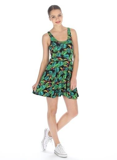 T-Box Elbise Yeşil
